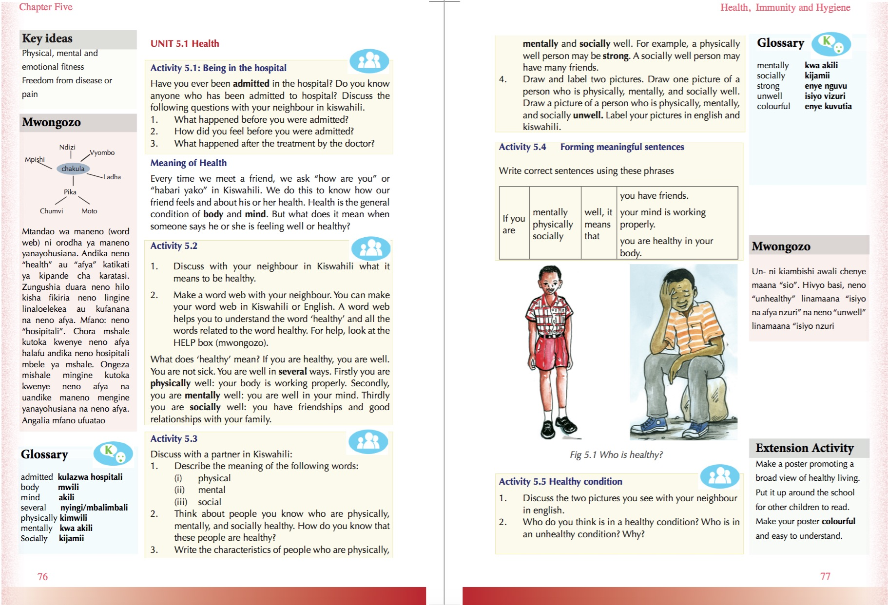 The textbook is written in simple sentences in english to make it easy to understand